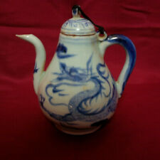 Chinese Antique B/W Dragon Porcelain Teapot