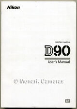 Nikon D90 Camera Manual, More ORIGINAL Instruction Books Listed - NOT a copy!