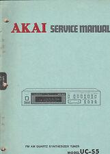 AKAI uc-s5 Service Manual original repair book stereo quartz synthesizer tuner