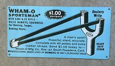 Wham-O Sportsman Slingshot Rifle Hunting Toy Ad Vintage Metal Sign Home Decor