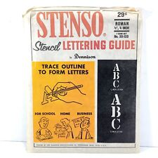 1966 Dennison Stenso Paper Stencil Lettering Guides, Alphabet, America, Crafting