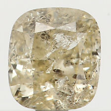 Natural Loose Diamond Cushion I2 Clarity Yellow Color 3.40 MM 0.22 Ct L2434