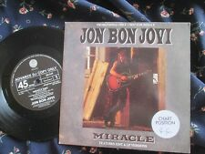 Jon Bon Jovi ‎Advance DJ Vinyl  Miracle Vertigo Records JBJDJ2 UK 7inch Single
