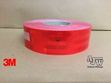 50m x55mm RED Conspicuity Tape ECE104 Diamond Reflective 3M Truck Lorry