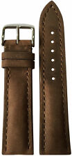 22x20 XL RIOS1931 for Panatime Lt Suede Brown Watch Strap w/Buckle for Breitling