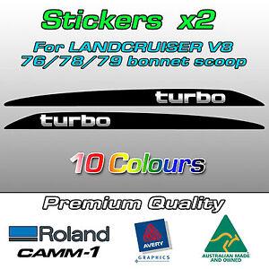 TURBO Landcruiser bonnet scoop sticker for 76 70 78 79 series