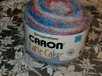 NEW CARON LATTE CAKES Frozen Ginger Blue Orange Yarn Bulky 250 g Acrylic Nylon E