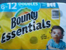 BOUNTY PAPER TOWELS-6 DOUBLE ROLLS = 12 BIG ROLLS-FREE 2-4 DAY PRIORITY SHIPPING