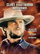 Clint Eastwood Westerner-The Outlaw Josey Wales, Pale Rider, Unforgiven(Dvd, 3