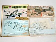 VINTAGE AIRFIX 72 SCALE MODEL KIT LOT HANNOVER AIRPLANE MESSERSCHMITT 2621