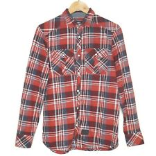 O'Neill Pearl Snap Short Size Mens Red Black Plaid Long Sleeve Shirt Size Small