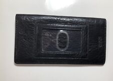 Black Leather Flat Wallet Wilsons Leather