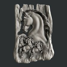 3d STL models for CNC, Artcam, Aspire, Horses