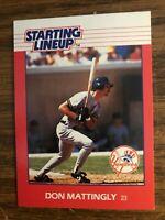 1988 Kenner Starting Lineup Card Don Mattingly New York Yankees NrMt