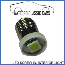 Screw Fit LED E10 Bulb for Classic Car Interior Dashboard Light Clusters