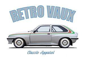 VAUXHALL CHEVETTE HSR t-shirt. RETRO VAUX. CLASSIC CAR. MODIFIED. RALLY CAR. DTV