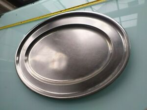 stainless steel tray food platter kitchen server share group picnic buffet plate
