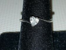 Romantic Heart-Shaped Micro-Mosaic Ring Size 8