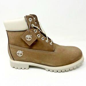 Timberland Mens 6 inch Premium Waterproof Boots Wetsand Nubuck Beige 26050