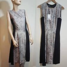 🦄By Malene Birger Kalimi Dress Size 36 10 Black Gold Evening Party A-Line Swing