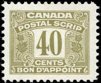 Canada Mint H 1967 F-VF Scott #FPS53 Third Issue Postal Scrip 40c Stamp