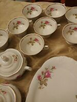 Set of  Walbrzych China - Moss Rose Made In Poland Setting For 12 (75 Pieces)