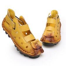 Women Sandals Retro Handmade Sandal Women Summer Soft Flat Genuine Leather Shoes