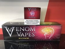 VENOM VAPES #2 RED ARCTIC. RED CHERRY HINT OF MENTHOL 3mg Nic, 30x 10ml Bottle