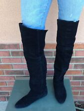 chinese laundry, black above the knee high suede boots siz e6.5 and size 6