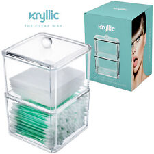 Acrylic Cotton Swab & Pads Container Organizer For Your Makeup & Stoarge Needs