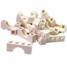 1x Lego 30387p02 Hinge Brick 1x4 Locking with Red and White Danger Stripes Red