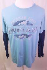 Retro Indian Motorcycle Biker Baseball Contrast Premium Long Sleeved T-shirt