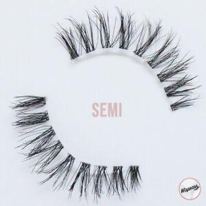 Natural false eyelashes best fake eyelash cruelty-free vegan invisible band SEMI