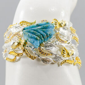 Fine Art Turquoise Bangle 925 Sterling Silver  Inches 2.5/BA02080