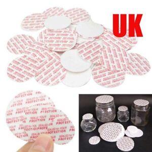 500/1000pcs Press Seal Cap Liners Foam Safety Tamper Seals Jar Bottle 20-38mm UK