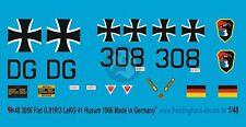 Peddinghaus 1/48 German Fiat G.91R/3 Markings LeKG 41 / 3. LwDiv Husum 1966 3056