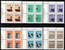 Canada 1982 Sc917-22  Mi853xA-58y 6.40 MiEu 6 UL blocks mnh Definitive Stamps
