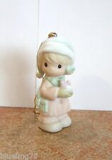 Precious Moments Ornament #521320R May All Your Christmases Be White Nib (Pr7)