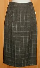 NEW/TAGS DESIGNER Grey Check, Fully Lined, Mid Length Corporate/Evening Skirt 8