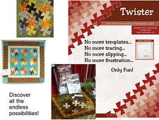 """LIL TWISTER Acrylic TEMPLATE Use w/ 5"""" charms - Tool for Making Pinwheels Easy!"""
