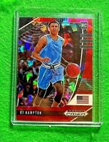 RJ HAMPTON PRIZM RED CRACKED ICE ROOKIE CARD JERSEY #10 USA RC NUGGETS 2020 RC