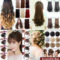 Women Clip In Ponytail Pony Tail Hair Extension Claw On Hair Piece curly wavy