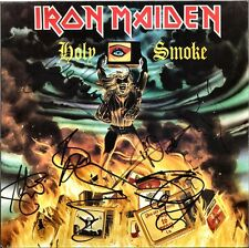 "IRON MAIDEN Holy Smoke, FULLY SIGNED 12"" Vinyl BRUCE DICKINSON Trooper AUTOGRAPH"