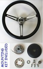 "70-77 Maverick Torino Galaxie LTD Grant Black Steering Wheel 15"" Cobra Center"