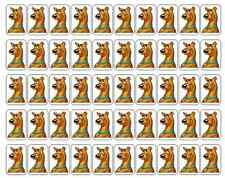 "50 Scooby Doo Envelope Seals / Labels / Stickers, 1"" by 1.5"""