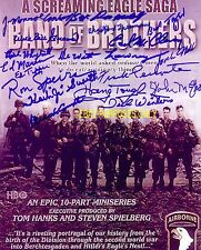 Band Of Brothers Easy Company Autographed 11x14 Photo w/17 Auto Inc Dick Winters