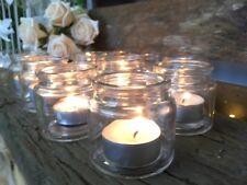 Bulk Buy Tea Light Holders Candle Jar Pots Clear Glass Vintage Wedding Decor