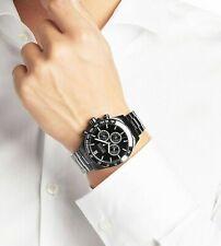 NEW GENUINE HUGO BOSS 1512961 STAINLESS STEEL IKON BLACK CHRONOGRAPH MEN'S WATCH