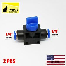 2 pcs Pneumatic Ball Valve Push In Fittings Connectors for Air/Water Tube