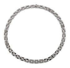 Cartier Panthere Maillon 18K White Gold and Diamond Necklace 16 inch